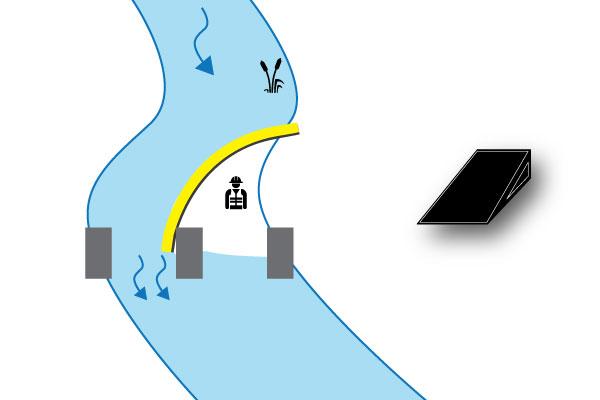 Köprü iskele üzerinde Nehir batardo
