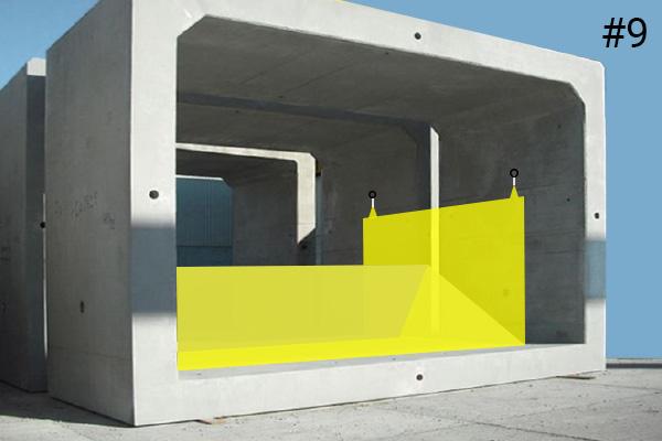 Esnek Water-Gate © batardoları. Bir beton menfez içine yerleştirme şeması | Vaka # 9